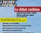 Réunion publique avec des candidats aux régionales sur La Défense
