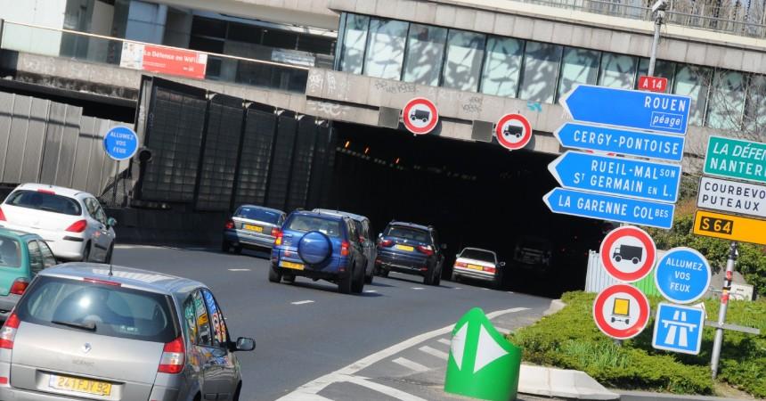 Fermeture du tunnel de Nanterre-La Défense pendant les trois premiers week-ends de janvier 2012