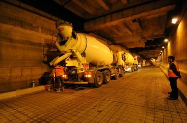Tunnel A14 La Défense : Les ouvriers s'activent durant sa fermeture