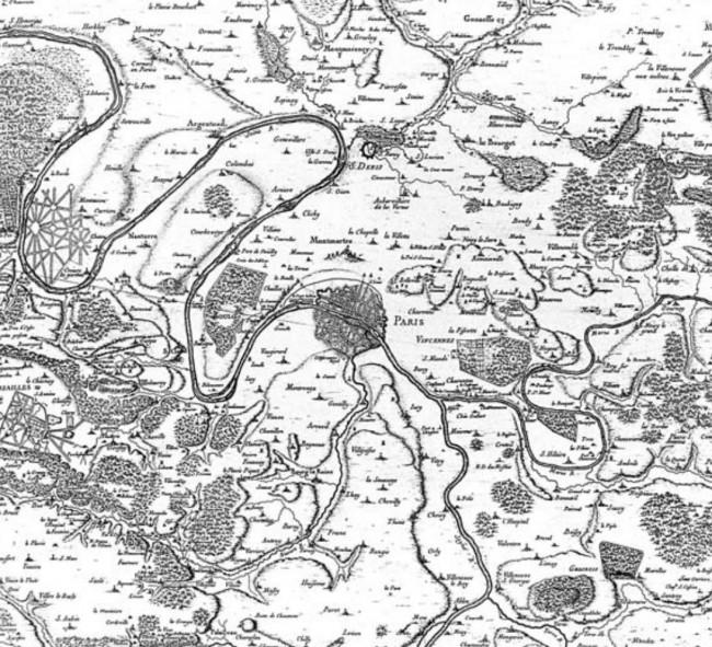 Carte de la région parisienne