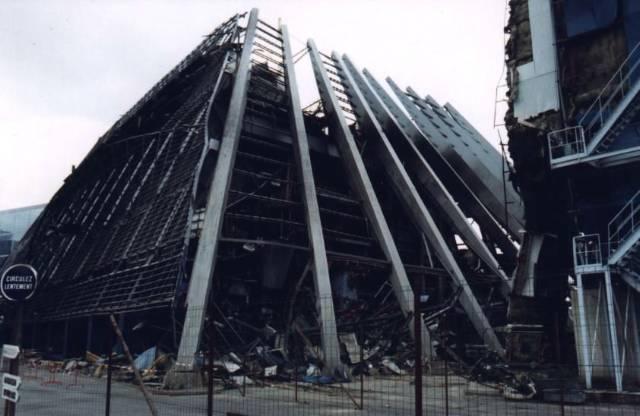 L'usine Climadef après l'explosion.