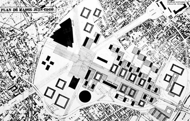 Le plan de masse de 1960 ©Archives Epad