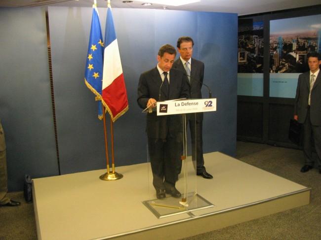 Nicolas Sarkozy présentant le Plan de Renouveau de La Défense © Christophe Grebert
