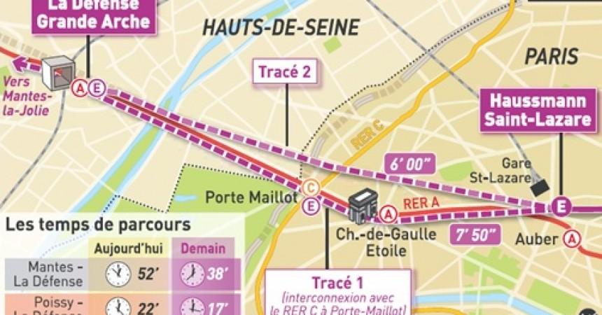 Un nouveau tracé pour le RER E