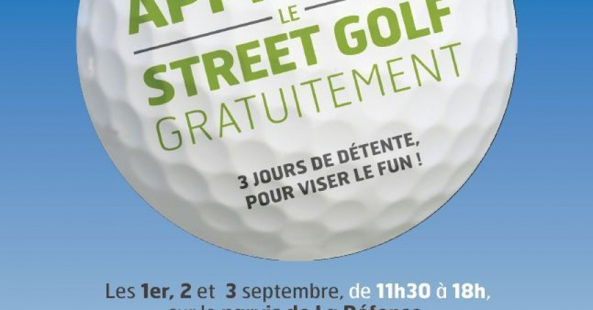 Street Golf sur le Parvis de La Défense