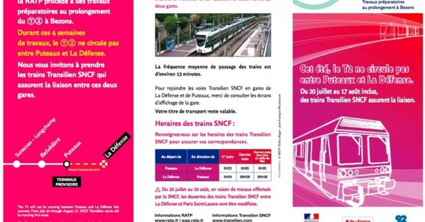Travaux en gare de La Défense