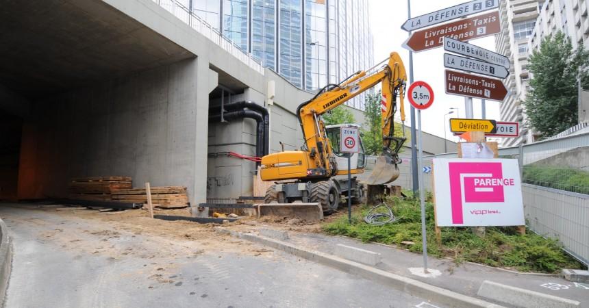 Modification des accès aux parkings Défense 2