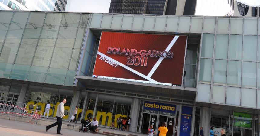 Roland Garros 2011 sur l'écran géant des Quatre Temps