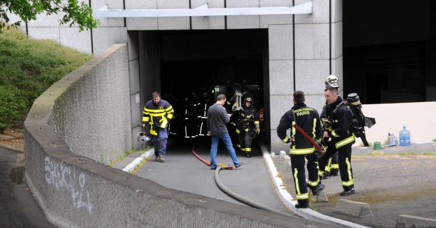 Un petit incendie dans le sous-sol de la tour Voltaire