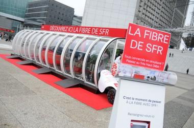 SFR fait la promotion de la fibre sur le Parvis