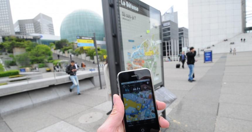 Defacto vient de lancer l'application pour iPhone «Retrouvez-vous à La Défense»