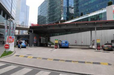 La station Total du boulevard circulaire rouvre