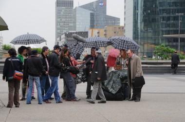 «Le séminaire» en tournage à La Défense