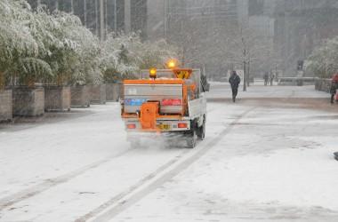 La neige et le verglas n'ont pas perturbé La Défense