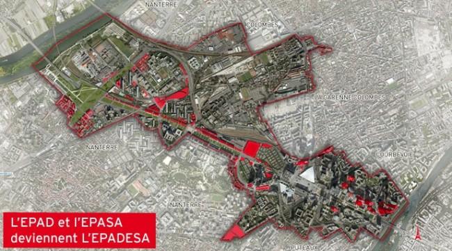 La carte de l'EPADESA.