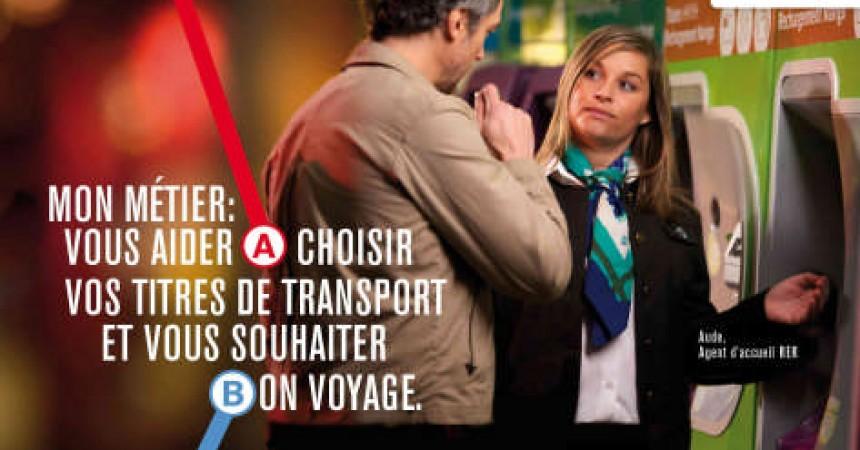 La nouvelle campagne publicitaire de la RATP dans le RER à La Défense