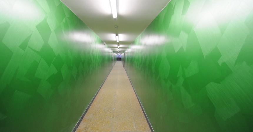 Les couloirs de la galerie de la Coupole en service
