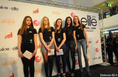 Elite sélectionne cinq jeunes filles aux Quatre Temps pour son Casting