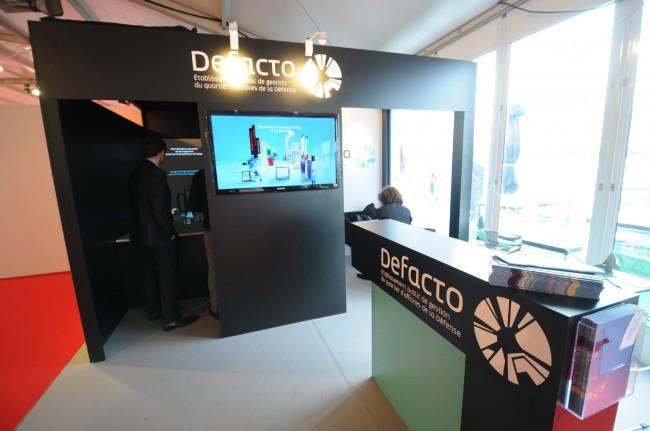 Le stand de Defacto au Mipim 2012 - ©Defense-92.fr
