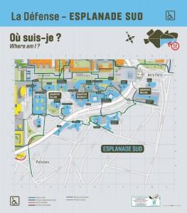 Plan de La Défense : Esplanade Sud