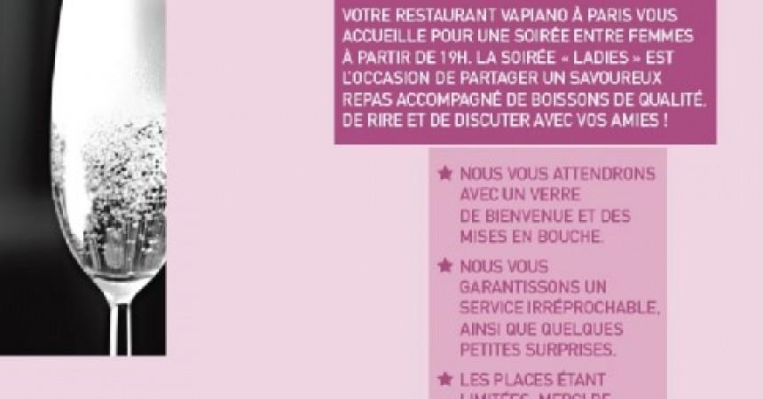 Vapiano organise sa première soirée 100% femme