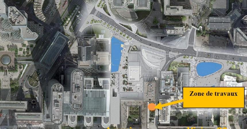 L'EPADESA créer une nouvelle issue de secours pour le parking des Corolles