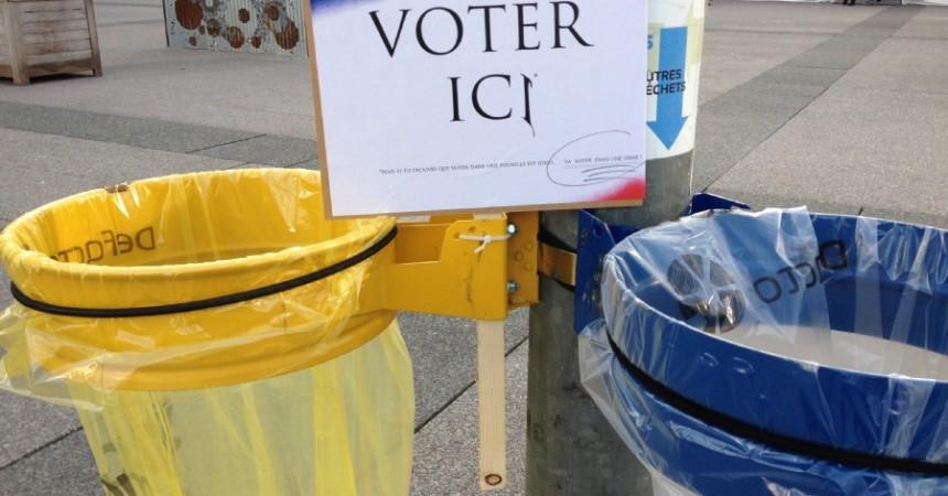 «Ne mettez pas votre vote dans une poubelle»