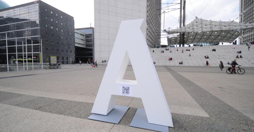 """Le département de l'""""AUBE"""" fait du teasing sur le parvis de La Défense"""