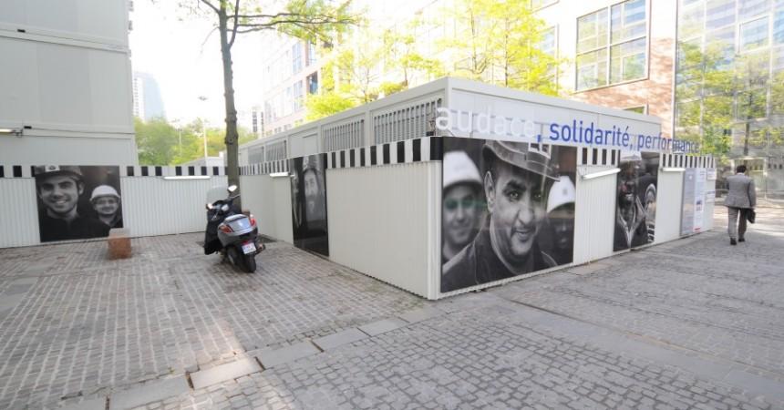 """Icade dévoile """"les visages"""" du chantier de la tour Eqho à travers une exposition photographique"""