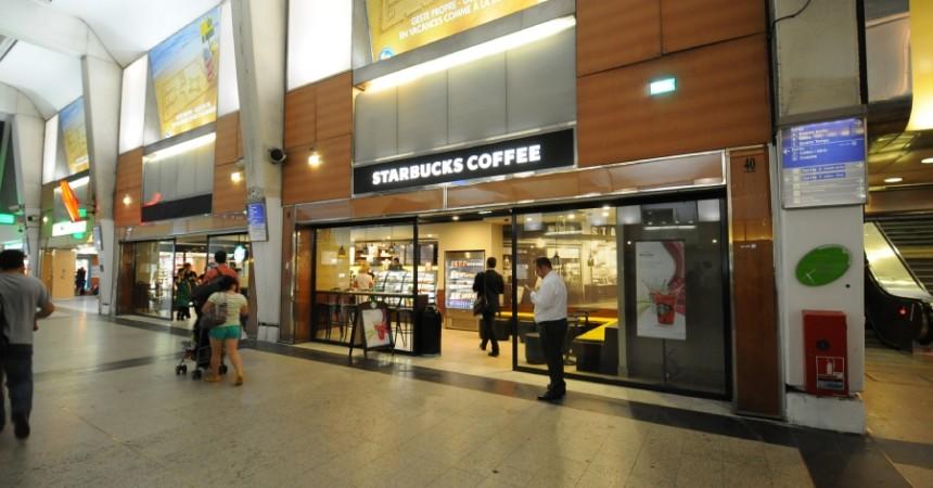 Un nouveau Starbucks dans la gare Cœur Transport