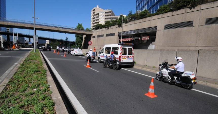 Opération de contrôle de vitesse à la sortie de tunnel de Neuilly