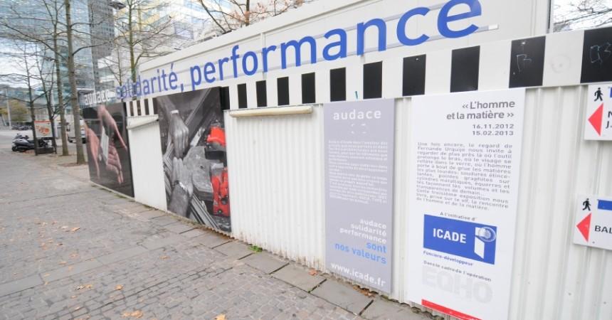 «L'homme et la matière» la nouvelle exposition d'Icade pour le chantier de la tour Eqho
