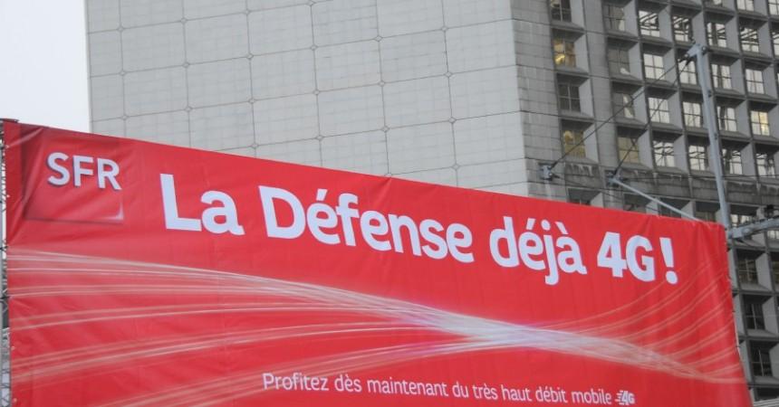 SFR passe à la vitesse supérieure à La Défense en activant la 4G