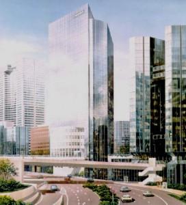 Perspective du projet de la tour prisma