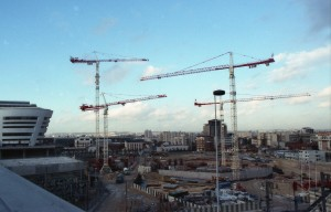 Le début du chantier de la tour Cèdre et de l'immeuble Le Colisée en 1996 - ©Milo