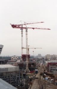 Le début du chantier de la tour Cèdre en 1996 - ©Milo