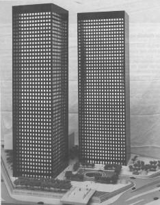 Le projet de la tour Fiat avec sa jumelle