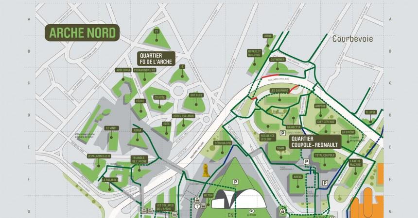 Plan de La Défense : Arche Nord