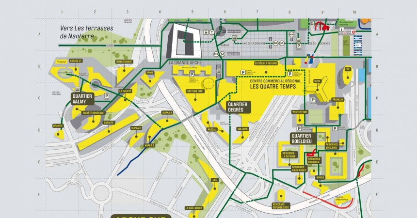 Plan de La Défense : Arche Sud