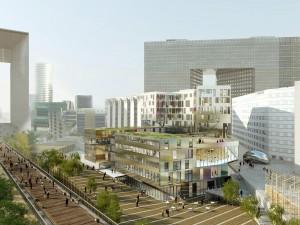 Le projet de l'immeuble Jardin de l'Arche