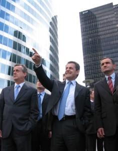 Nicolas Sarkozy en visite à La Défense - ©Christophe Grebert