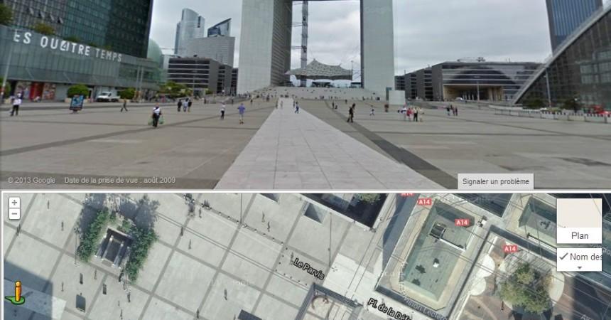 Naviguez a 360° dans La Défense avec Google Street View