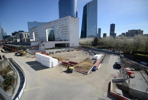 Le terrain de l'hôtel CitizenM le 14 avril 2015 - Defense-92.fr
