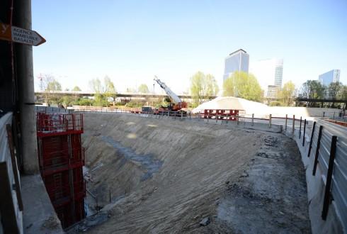 Le chantier Sky Light le 14 avril 2015 - Defense-92.fr