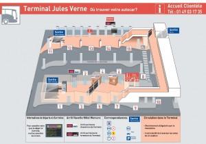 Plan du terminal Jules Verne