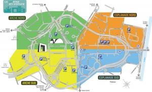 Plan routier de La Défense