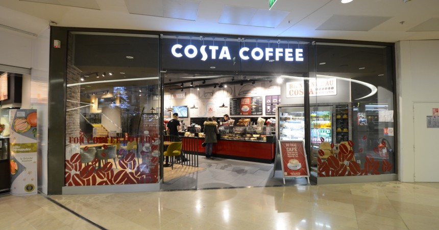 Costa Coffee s'implante aux Quatre Temps