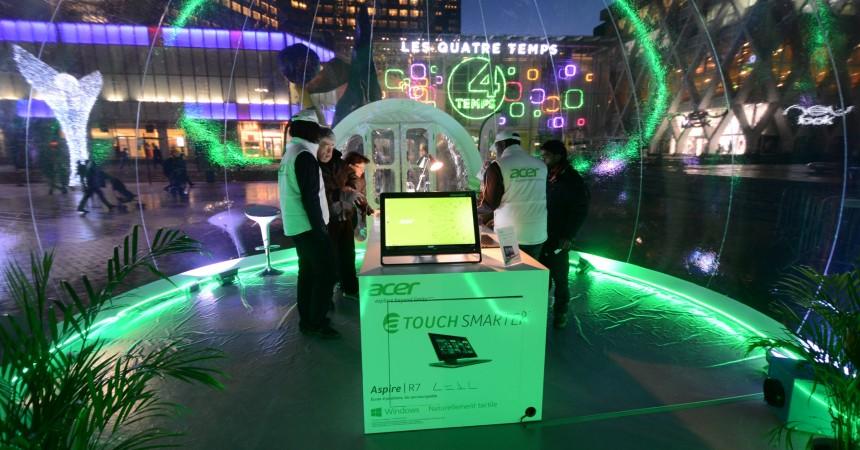 Acer présente sa nouvelle gamme de produits sur la Place de La Défense
