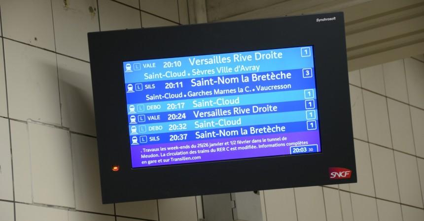 De nouveaux écrans d'information dans la gare du Transilien