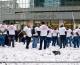 Plus de 350 salariés de Stora Enso Corbehem manifestent au pied de la tour Europlaza